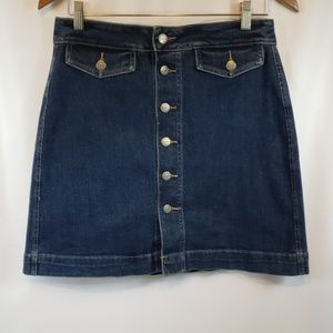 "The ""Loft"" Short alone style demin skirt size 6"